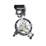 Mincam pipe inspection camera with double pus rod cable